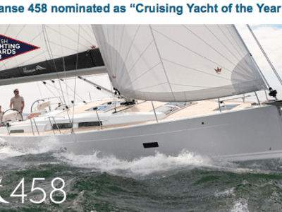 "Hanse 458 Nominerad Till ""Crusing Yacht Of The Year"""