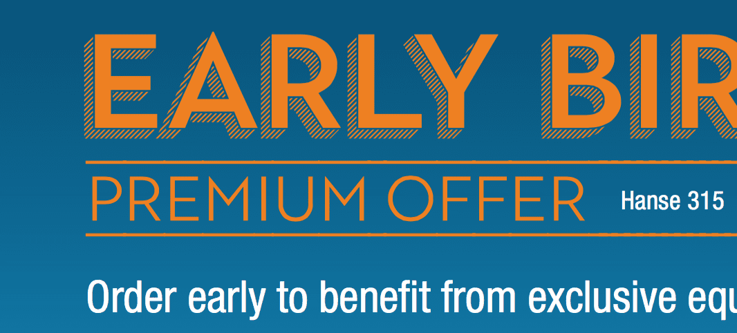 Early Bird Offer Hanse 2018