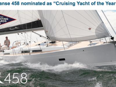 "Hanse 458 Nominerad Till ""Crusing Yacht Of The Year"""